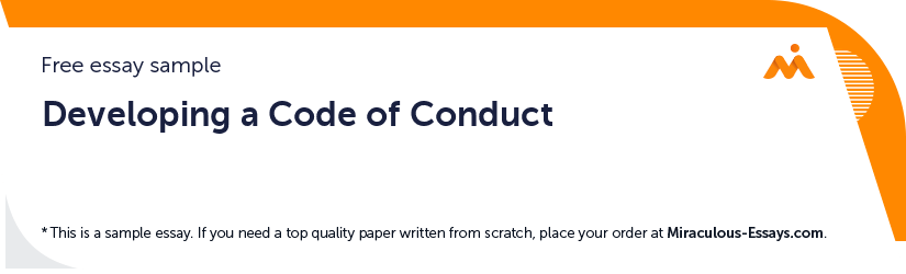 Developing a Code of Conduct